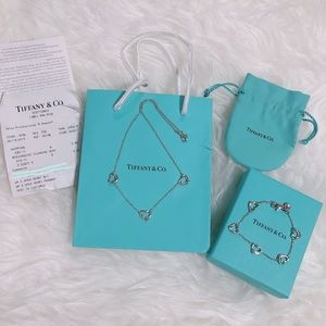 Authentic Tiffany & Co Elsa Peretti Open Heart Set